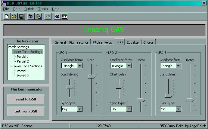 Roland D50 virtual editor